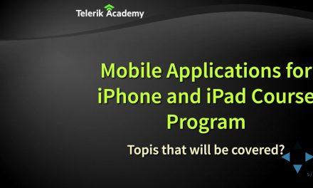 Създаване на iOS мобилни приложения (iPhone и iPad)