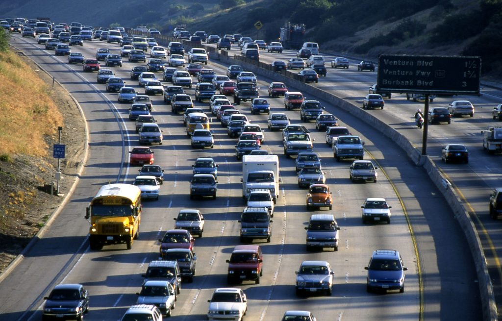 Лос Анджелис Калифорния Трафик