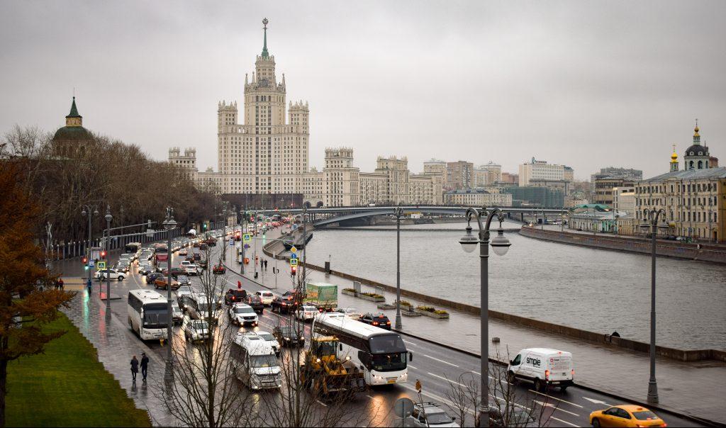 Москва Русия Трафик
